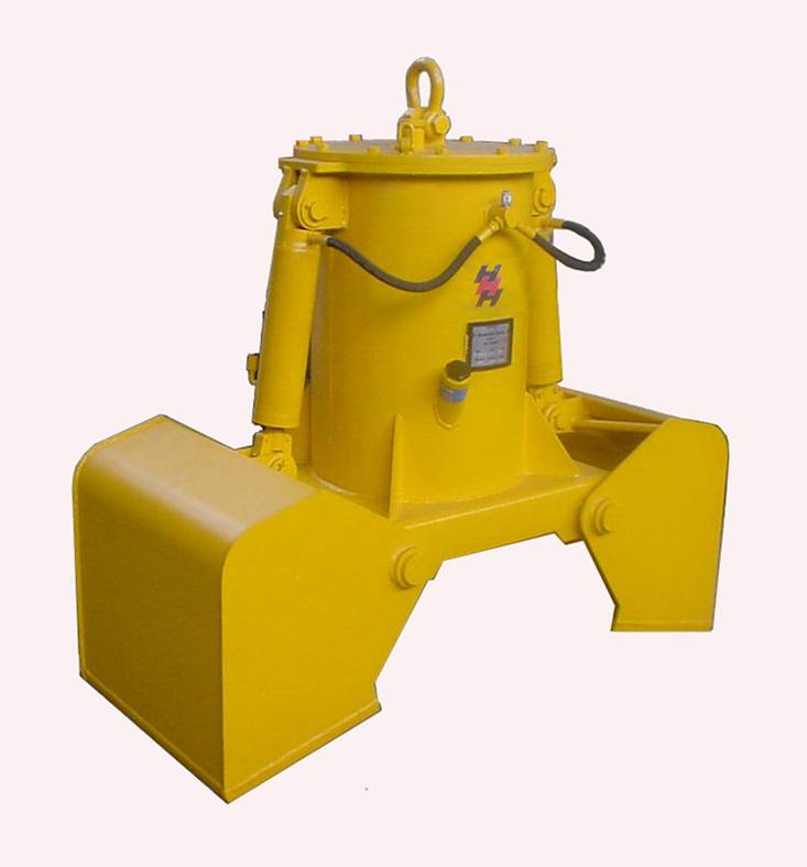 Hydraulic clam shell bucket