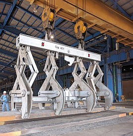 automatic slab tong