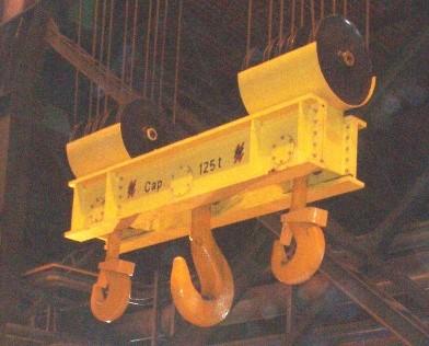 Ladle beams for Motorized rotating crane hook